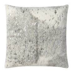 Loloi Transitional Pillow Cover, Gray and Silver, 22  x22