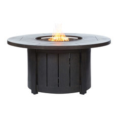 """50"""" Round Fire Pit Table - Chestnut Finish"""