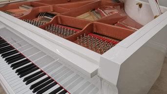 TN-152 SELF PLAYING BABY GRAND PIANO - GLOSS WHITE