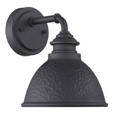 Englewood Collection 1-Light Small Wall Lantern, Black