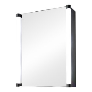 Aziza Ambient Light Demisting Bathroom Cabinet, With Under-Cabinet Lighting