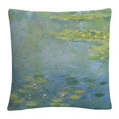 "Monet 'Waterlilies' 16""x16"" Decorative Throw Pillow"