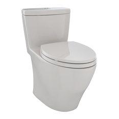 Toto Aquia Elongated 1-Piece Toilet, Sedona Beige, MS654114MF#12