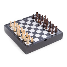 Bey-Berk International - Lacquered Wood Multi Game Set - Board Games and Card Games