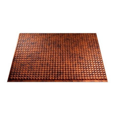 "18""x24"" Fasade Square Backsplash Panel, Moonstone Copper"