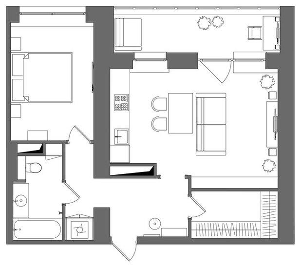 Фьюжн Внутренний план by MO interior design