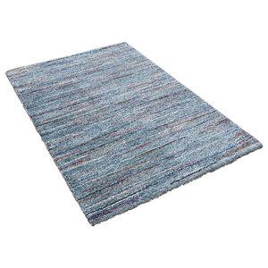 Mehari Light Blue Rectangular Rug, 200x290 cm