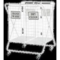 """White Metal Farmhouse Storage Basket, 32 """"x25 """"x22 """""""