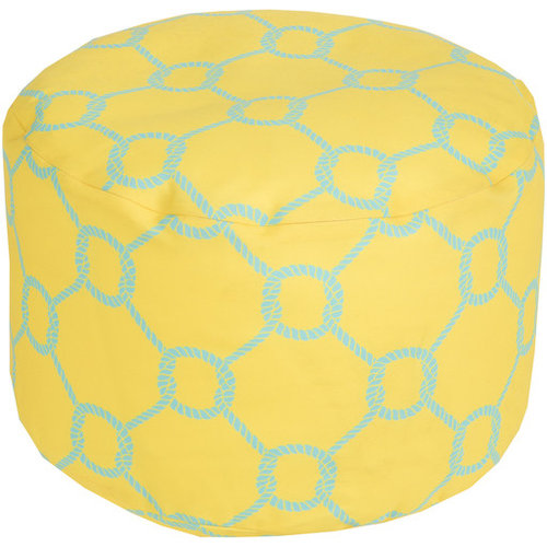 Surya Poufs- (POUF-298) - Floor Pillows And Poufs