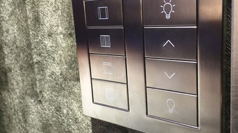 Lutron lighting, curtain & blind control from a single keypad
