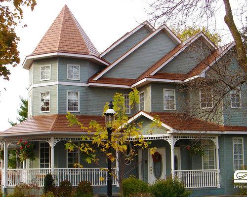 Aged Copper Interlock Shingle Metal Roof