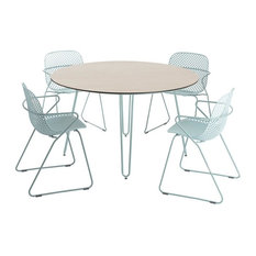Remy 5-Piece Round Garden Dining Table Set, 4 Dining Chairs