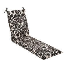 Essence Black Beige Chaise Lounge Cushion