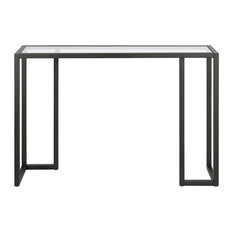 Henn&Hart Contemporary Art Deco Metal Black And Bronze Finish Console Table