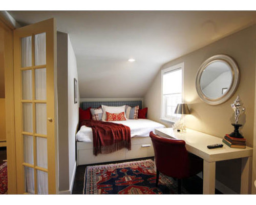 Trendy home design photo in Boston. Small Guest Bedroom   Houzz