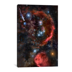 """Orion The Hunter, Hubble Space Telescope"" Wrapped Canvas Print, 60x40x1.5"
