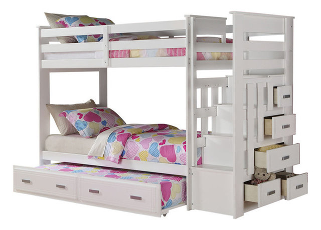 Acme Allentown Twin Twin Bunk Bed With Storage Ladder And