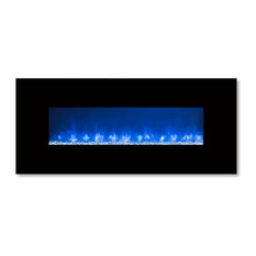 CLX-2 Series Electric Fireplace with Black Glass Front, 60""