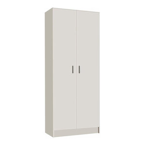 Multi Purpose Tall Cupboard, Composite Wood With Shelves, Perfect for Storage