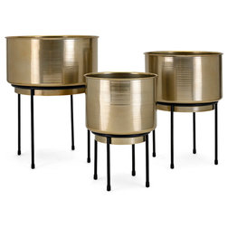 Contemporary Outdoor Pots And Planters by GwG Outlet