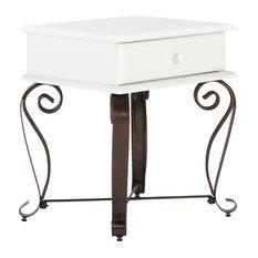 Byzanz Bedside Table, White