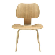 Molded Plywood Dining Side Chair Natural