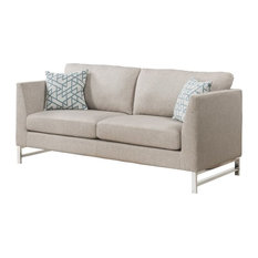 ACME Varali Sofa with 2 Pillows, Beige Linen