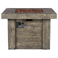 """Merida 34.75"""" Square Outdoor Fire Pit Table"""