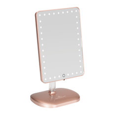 Touch Pro LED Makeup Mirror With Bluetooth Speaker and USB, Rose Gold