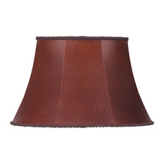cal lighting cal lighting sh8022 oval leatherette shade lamp shades