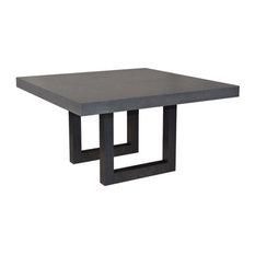 Zen Square Concrete Dining Table, Limestone, 48x48