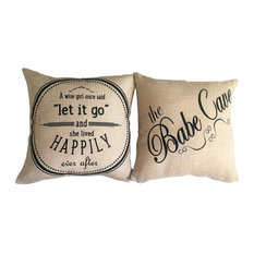 Babe Cave/Let it Go Motivational Doublesided Pillow for Teens Girls Women