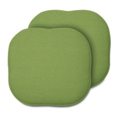 Memory Foam Chair Pads, Set of 2, Green