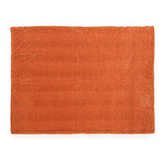 Desdemona Modern Fabric Throw Blanket, Orange