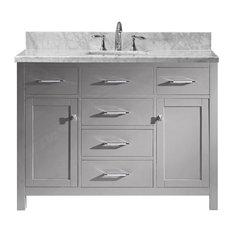 Caroline 48-inch Single Bathroom Vanity Set Cashmere Gray