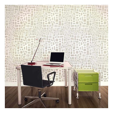 Matrix Allover Stencil, Modern Pattern Design Stencils, Easy DIY Wall Decor