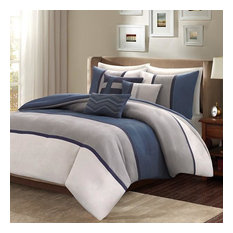 Madison Park 6 Piece Duvet Cover Set in Blue Finish MP12-3061