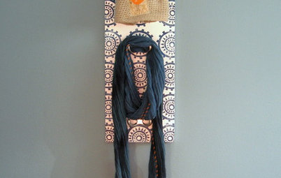 Make a Cool Block-Printed Coat Rack