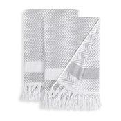 Linum Home Textiles Assos Bath Towels, Set of 2, Dove Gray