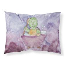 Turtle Bathing Watercolor Fabric Standard Pillowcase