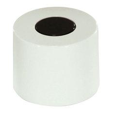 English Candy Drawer Knobs, White With Black Circle, Set of 5