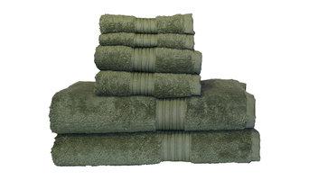 Egyptian Majestic Oversized Heavy Egyptian Cotton 6 Piece Towel Set Moss Green