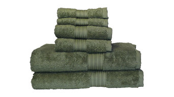 Egyptian Majestic Oversized Heavy Egyptian Cotton 6 Piece Towel Set Moss Green