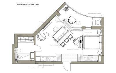 Поиск планировки: Студия с иллюминатором в Питере [4 варианта]