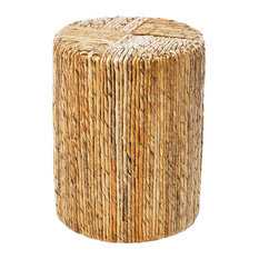Natural Abaca Drum Stool