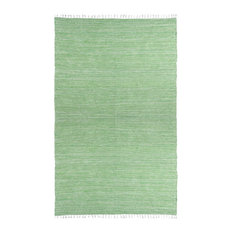 Green Complex Chenille Flat Weave Rug, 8'x10'