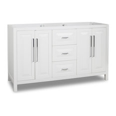 "Cade Contempo Jeffrey Alexander 59"" Vanity, White, No Top"
