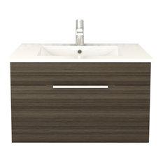 "Textures Spring Blossom Floating Bathroom Vanity, 30"""