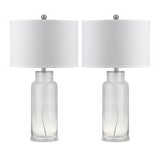 Bottle Glass Table Lamp ZMT-LIT4157B (Set of 2) - Clear/White Shade