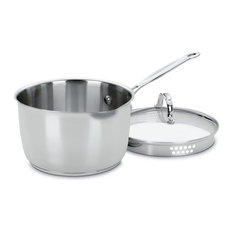 Chef's Classic Stainless Cook-and-Pour 3-Quart Saucepan With Draining Lid